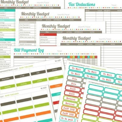 10 Simple Financial Planning Printables