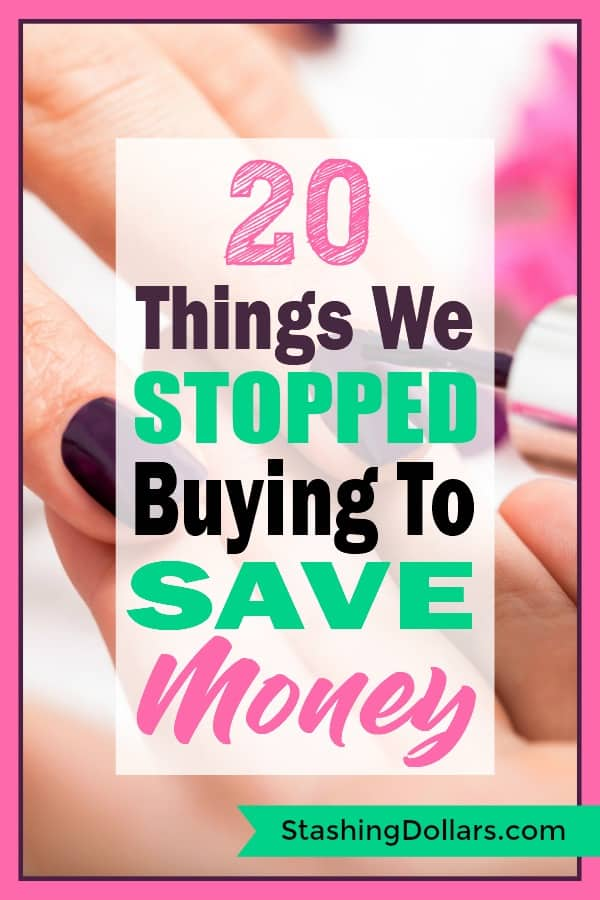 "Do you buy lots of ""stuff""? See what we gave up to save money. #moneymanagement #personalfinance #debtfree"